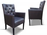 čalouněná židle s područkama P98 TL s prošitou opěrkou