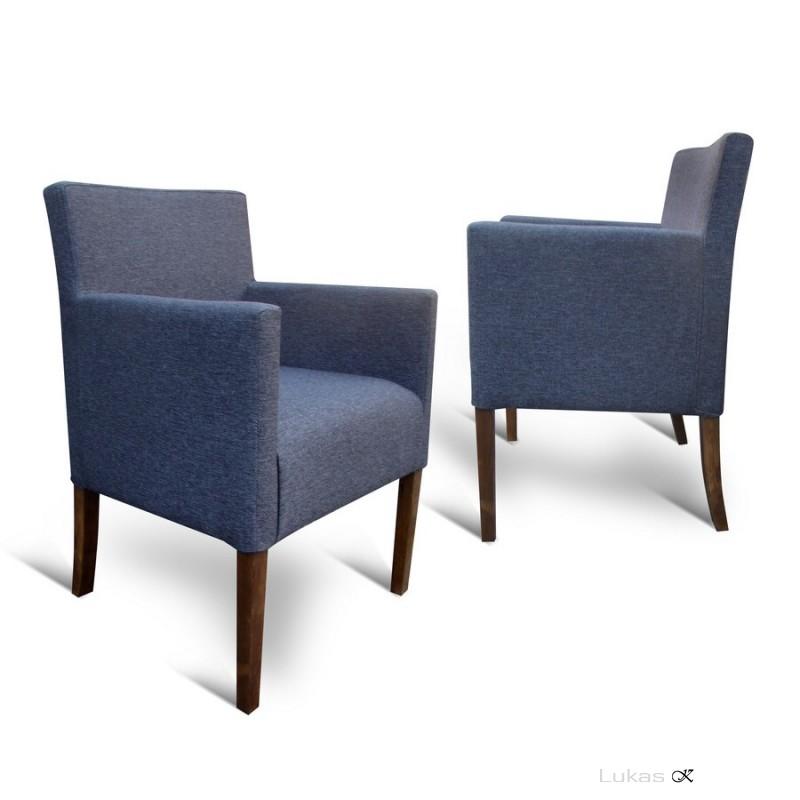čalouněná židle s pdoručkama P84 TL