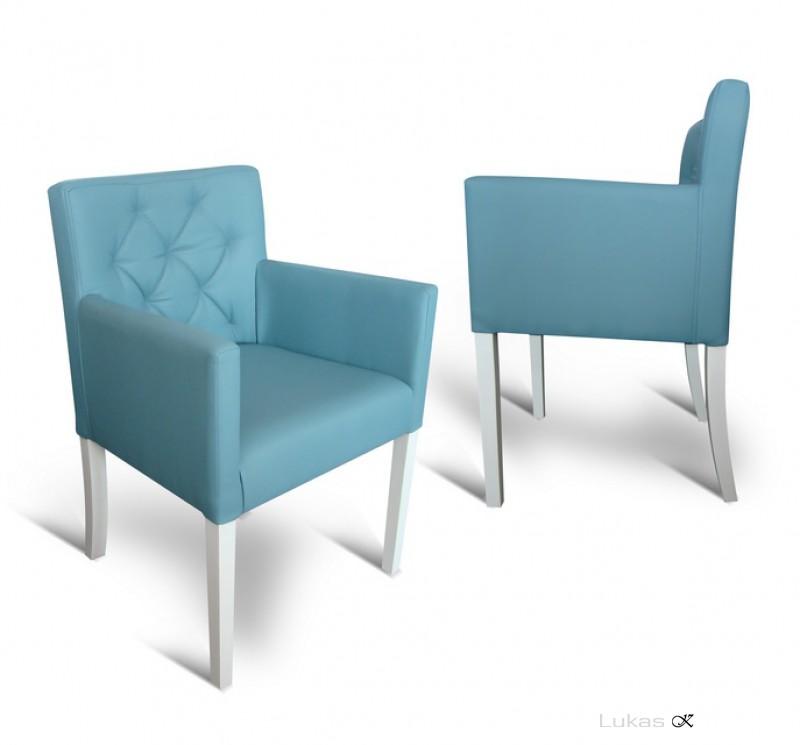 čalouněná židle s područkama P84 TE s prošitou opěrkou