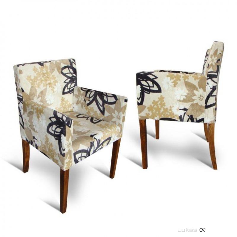 čalouněná židle s područkama  P84 TE