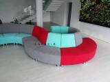 modulový kulatý sedací nábytek