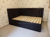 luxusní  čalouněná  postel D 03 - jeden a půl lůžka