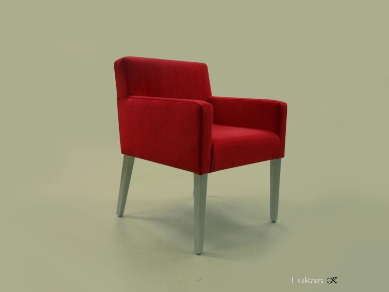 čalouněná židle s područkama  LP01