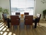 čalouněné kožené židle